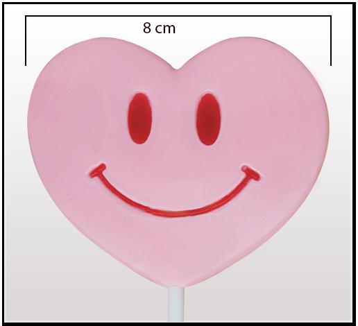 Lizak serce Be Happy by Candy Way